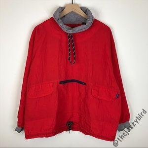 Esprit Vintage Red Windbreaker Pullover